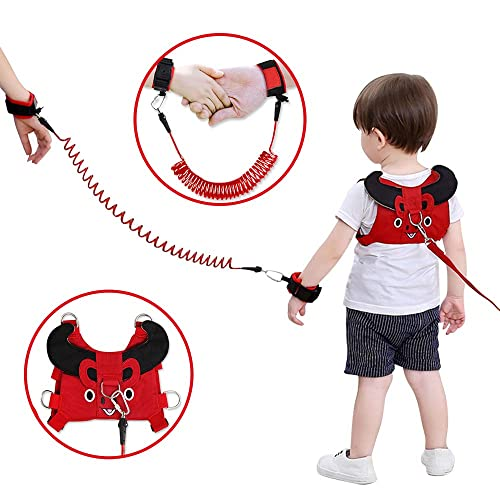 Orange 1.5m Baby Rein with Induction Lock,Anti Lost Safety Wrist Link with High-tech Reflective Strips,2020 New Upgraded Lehoo Castle Toddler Rein for Walking