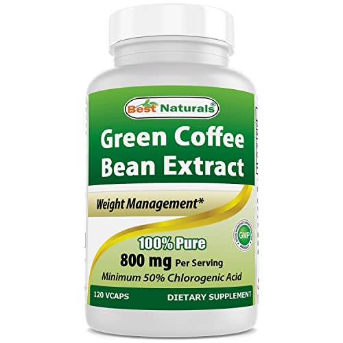 Best Naturals 100 Pure Green Coffee Bean Extract 800 Mg Per