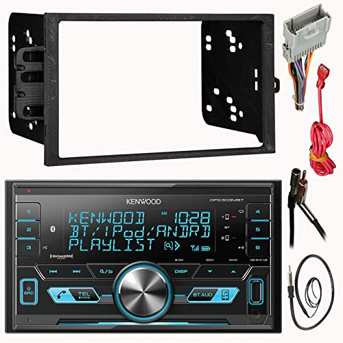 JVC KDR99MBS AUX Bluetooth CD Receiver Harley Touring 98-2013 Dash Install Kit