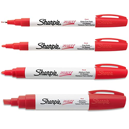 Sharpie Paint Marker Oil Based Red All Sizes Kit with Ex Fine, Fine, Medium  & Bold | Buy Products Online with Ubuy Lebanon in Affordable Prices.  B00U82318I