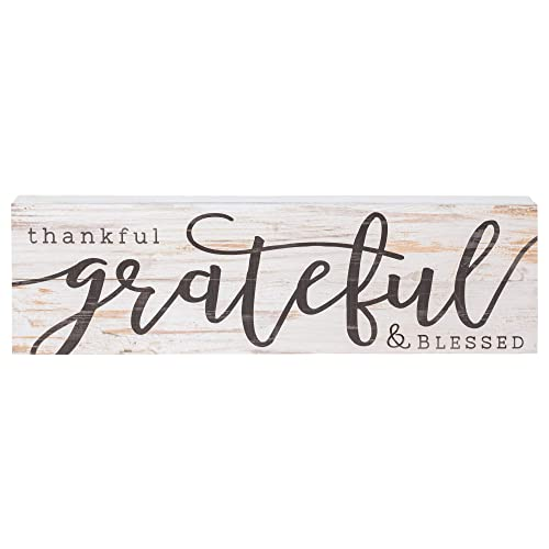 Buy P Graham Dunn Thankful Grateful Blessed White Wash 24 X 7 Inch Solid Pine Wood Boxed Pallet Wall Plaque Sign Online In Lebanon B06w5253xv