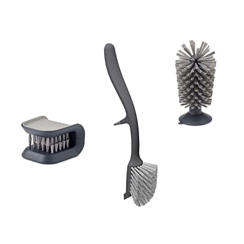 Joseph Joseph 96014 Kitchen Set Knife And Cutlery Cleaner Dish Glass Brush 3 Piece Gray Buy Products Online With Ubuy Lebanon In Affordable Prices B07jc71rwm
