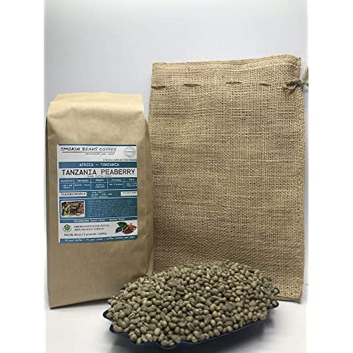 5 Pounds Southern Africa Tanzania Peaberry Unroasted Arabica