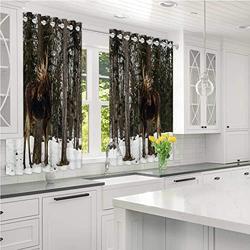 Moocom Moose With Antlers Omega Park Of Quebec Blackout Shades Outdoor Curtains Wide 108 X High 90 Buy Products Online With Ubuy Lebanon In Affordable Prices B085dlr3sw