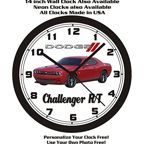 Buy 2015 2018 Dodge Challenger Rt Scat Pack 10 Inch Wall Clock Free Usa Ship Online In Lebanon B00ni629g6