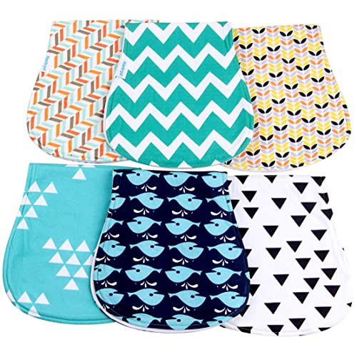 Soft and Absorbent Towels Thick Baby Shower Gift for Boys and Girls by BaeBae Goods /… /… 6 Pack Baby Burp Cloths Set Large 21x10 Burping Rags for Newborns Super Soft Cotton