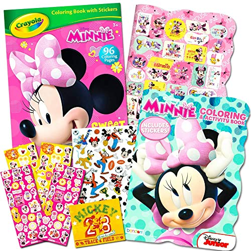 - Disney Minnie Mouse Coloring Book Set With Stickers -- 2 Deluxe Coloring  Books And Over 150 Stickers Buy Products Online With Ubuy Lebanon In  Affordable Prices. B00RWCU0PE