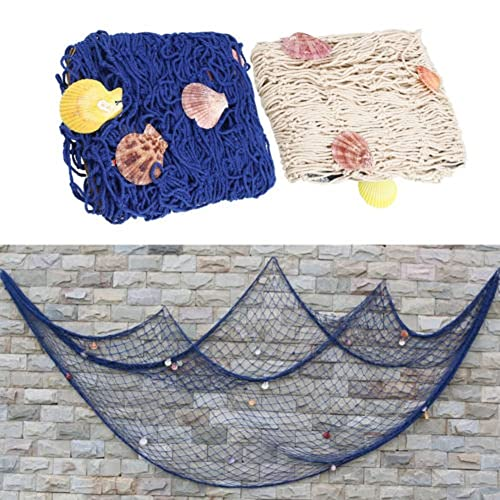 Buy Aminiture Decorative Fishing Net Seaside Wall Beach Party Sea Shells Home Garden Decor Blue 59x79 Online In Lebanon B07b485wp9