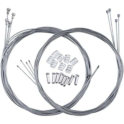 Inner Wire//Outer Casing//End Caps Positz MTB Gear Cable Set for Smoothe Shifters