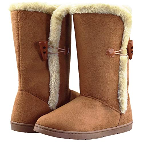 YIRUIYA Kids Snow Boots Waterproof Winter Boots for Girls Boys Outdoor Ankle Boots Shoes with Fur Lined