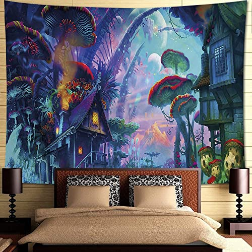 Buy Inthouse Psychedelic Forest Tapestry Wall Hanging Magic Land Tapestry Wall Decor For Bedroom College Dorm Room Online In Lebanon B081yypdjy