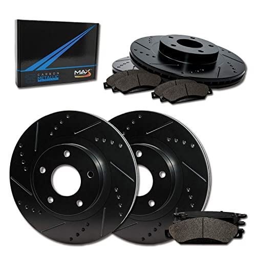 2014 14 2015 15 Toyota Corolla Fits Max Brakes Front Carbon Ceramic Performance Disc Brake Pads KT044551