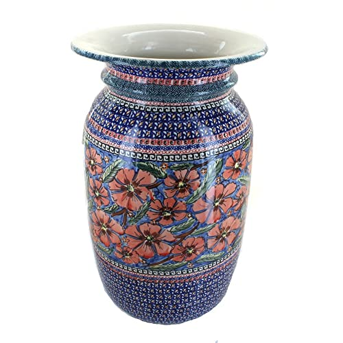 Blue Rose Polish Pottery Jungle Flower Tall Floor Vase Buy Products Online With Ubuy Lebanon In Affordable Prices B002s0rv2a