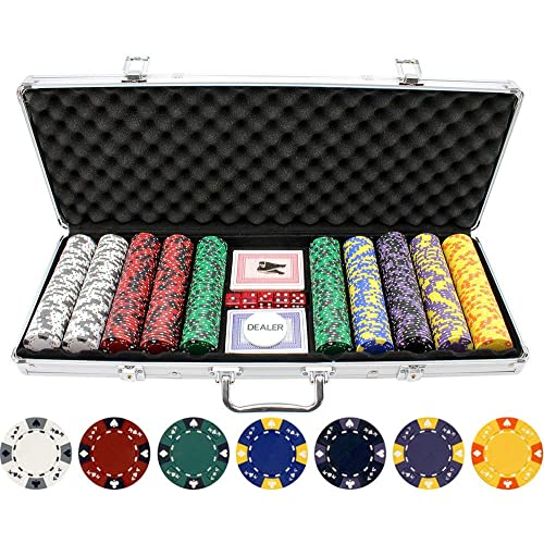 Buy Versa Games 13 5g 500pc Ace King Poker Chip Set Online In Lebanon B07k8w896t