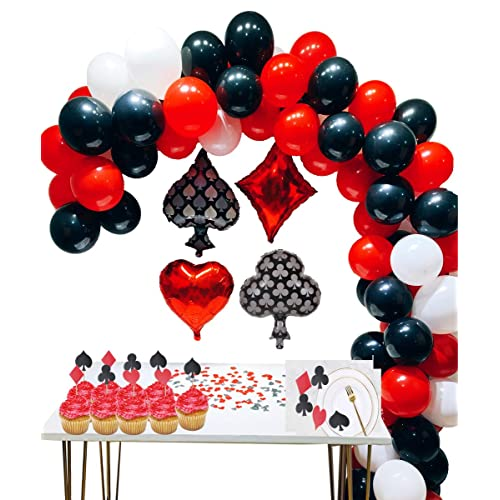 Buy Casino Party Decoration Supplies Set Casino Balloons Black Red White Latex Balloon With Casino Confetti For Casino Theme Party Las Vegas Themed Parties Casino Night Poker Events Online In Lebanon B07pqgzp79
