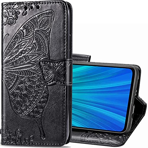 Zyzx Samsung Galaxy M31 3d Butterfly Flower Wallet Case Samsung Galaxy M31 Leather Flip Phone Shell With Credit Cards Slot And Stand Shockproof Magnetic Protective Cover Hzd Black Buy Products Online
