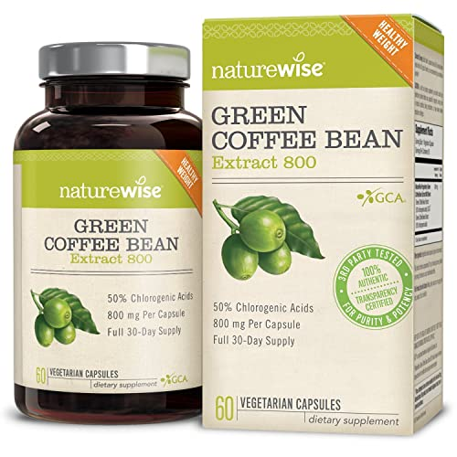 Naturewise Green Coffee Bean 800mg Max Potency Extract 50