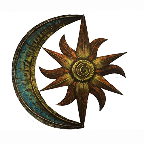Buy Crafia Celestial Themed Metal Wall Decor Hand Painted Metal Wall Art Moon Star Shape Iron Showpiece Metal Wall Decor Ideas Online In Lebanon B07g4bsght