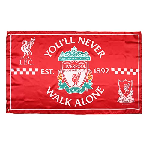 GLUUGES FC 3x5ft Football Club 3x5ft Polyester Flag for Liverpool Fan Use Indoor or Outdoor