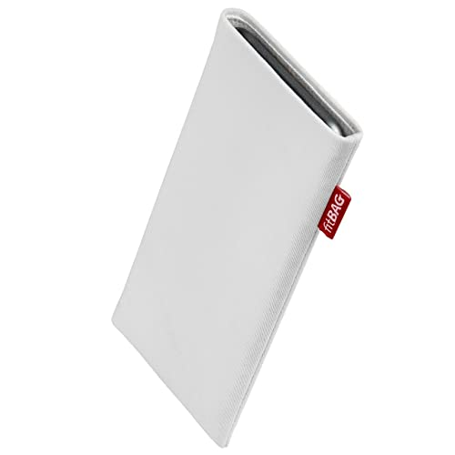fitBAG Jive Gray custom tailored sleeve for ZTE Nubia Red Magic 5G Fine suit fabric pouch case cover with MicroFibre lining for display cleaning Made in Germany