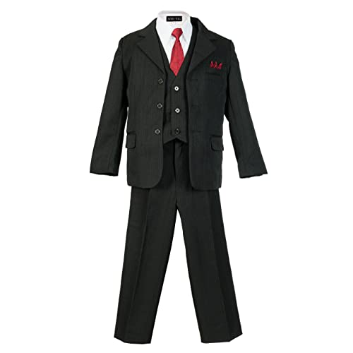 Boys Pinstripe Suit Set with Matching Tie Size 2T-20