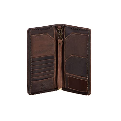Visconti VCN20 LUXURY Quality Tan Leather Bifold Tall Travel Checkbook ID Wallet