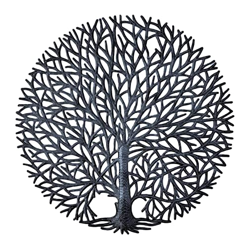 Buy Its Cactus Haitian Tree Of Life Wall Plaque Decorative Kitchen Metal Tree Wall Hanging Art Indoor Or Outdoor Decor Handmade In Haiti No Machines Used 24 In X 24 In Tranquility