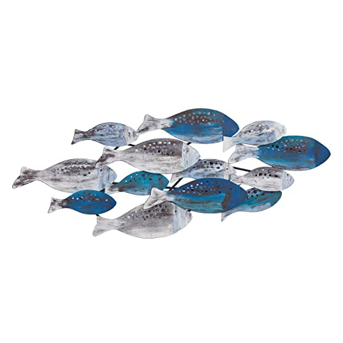 Buy Danya B Fhb6563 School Of Fish Modern Metal Wall Art Perfect For Coastal Nautical Beach Or Boat Décor Metal Wall Décor Online In Lebanon B07fb5sd8q