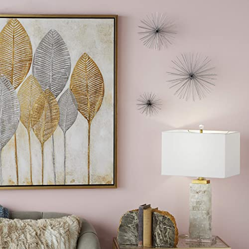 Buy Cosmoliving By Cosmopolitan 50389 Contemporary Style 3d Round Silver Metal Starburst Wall Decor Sculptures Set Of 3 6 9 11 Rdquo Online In Lebanon B07jcrpxqr