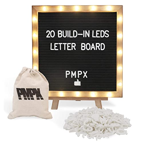 Black Felt Letter Board With Stand Built In Led Lights 10 X 10 Menu Board Wood