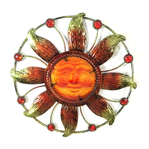 Buy Bejeweled Display Sun Face W Stain Glass Wall Art Plaque Home Decoration Online In Lebanon B00mmngfmk