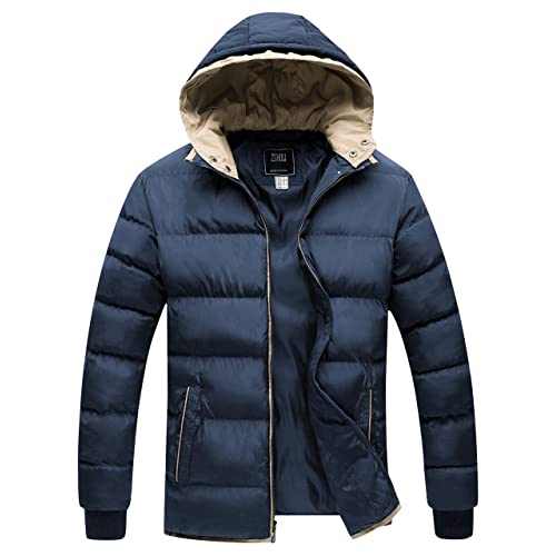 ZSHOW Boys Hooded Puffer Jacket Thick Padded Winter Coat Windproof Parka