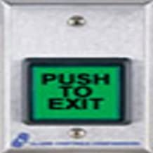 TS-18 ALARM CONTROLS Plastic Push Button,5 in H,w//SPDT Relay Silver//Green