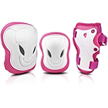 Easy/_Way Knee Pads Elbow Pads Wrist Guards for Kids-Kid//Youth//Adult Protective Gear Set for Skating Scooter Skateboard Rollerblade Roller Skates Cycling BMX Bike Inline Riding Extreme Sports
