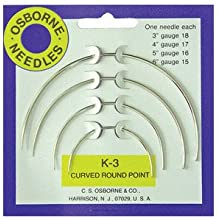 C.S MPN #15016 Curved 3 Sq Point Needle Card K-4 Osborne /& Co No