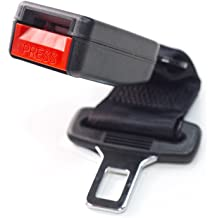 - E-Mark Safety Certified Buckle Up /& Drive Safely Irregular - Type B: 1 Tongue Width Rigid 7 Seat Belt Extender Accessory