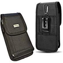V35 ThinQ AIScell Heavy Duty Belt Hip Carrying Case Holster for Cellphone,Black Nylon Pouch Belt Clip Waist Case Compatible for LG G8 ThinQ G7 ThinQ,with Protective Case Cover