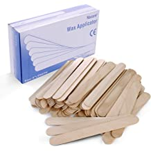 Natural Wood Finish Stick for Spa,Wood Tongue Depressors Sticks,Large Wide Wood Wax Spatula Applicator,7.9 Inch,100 Pcs