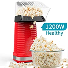 5-1//2-Quart Recipes Included Glass Lid with Silicone Rim Easily Make Classic or Flavored Popcorn Zippy Pop Black Stovetop Popcorn Popper NEW 2020 Model Dishwasher Safe