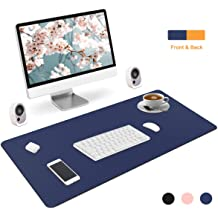 HADMB Desk Protector Multifunctional Waterproof Non-Slip PU Leather Edge Protect Mat Desktops Mate with Lip Mouse//Writing//Typing Pad