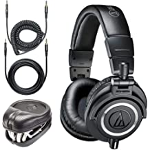 7d3f105a8a3 Audio-Technica ATH-M50x Professional Monitor Headphones + Slappa Full Sized  HardBody PRO Headphone