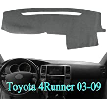 Y48 04-07 gray1 Yiz Dash Cover Dashboard Cover Mat Pad Custom Fit for Toyota Sienna 2004-2007