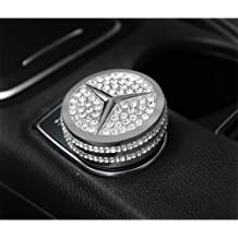 TopDall Bling Crystal Leather Key Fob Case Cover Chain Premium Fashion Protector Sleeve for Mercedes Benz