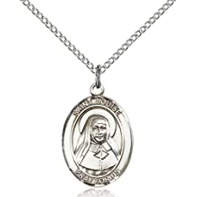 Christopher//Basketball Medal on an 24 inch Heavy Curb Chain with a Prayer to St Cristopher Prayer Card. Bonyak Jewelry Sterling Silver St
