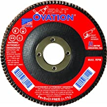 7-Inch by 7//8-Inch United Abrasives- SAIT 78045 Ovation Flap Disc 10-Pack 36 Grit