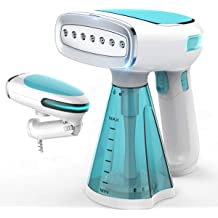 Fabric Steamer with Big Water Injection Head|Anti-Drip|40s Fast Heat-up|Auto-Off|Green Travel Portable Steam Iron for Clothes Steamer Wrinkle/Remover Veejoda Handheld Garment Steamer for Clothes