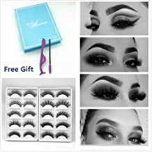 0cc79349e1f Miss Kiss Brand 10 Pairs Different Style 3D Faux Mink Eye lashes Long Thick  Volume Dramatic Wispy Look Fake Eyelashes Strips Soft Fiber .