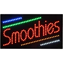 LED Waxing Open Light Sign Super Bright Electric Advertising Display Board for Message Business Shop Store Window Bedroom 24 x 12 inches