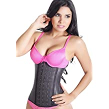 ced910b92 LadySlim by NuvoFit Lady Slim Fajas Colombiana Latex Waist Cincher Trainer  Trimmer Corset