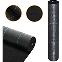 6 x 33 Farm Plastic Supply 3.2oz Premium Durable Garden Weed Barrier Landscape Fabric Weed Control 6 Wide in Various Lengths